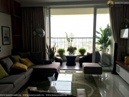 Two beds apartment high floor in Thao Dien Pearl for rent