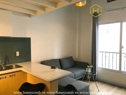 Enjoy new lifestyle with this modern serviced 1 bedroom-apartment at Thao Dien