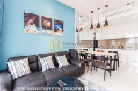 The fresh pastel tone and lovely style make up a great combination for this 2 bed-apartment at Masteri An Phu