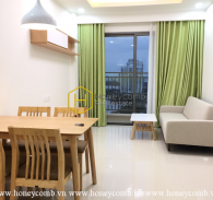 A bright tone and rustic interiors apartment in The Sun Avenue for rent