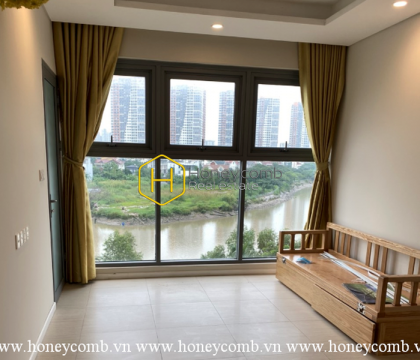 Admire the tranquil and elegant river view from our unfurnished Diamond Island apartment