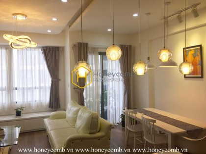 Low floor and pool view with two bedroom apartment for rent in Masteri Thao Dien