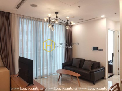 Experience the rustic design and transquil river view in this Vinhomes Golden River apartment for rent