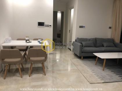 Simple design in Vinhomes Golden River apartment creates a coziness