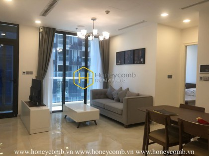 Simple structure and basic interior in Vinhomes Golden River apartment for rent