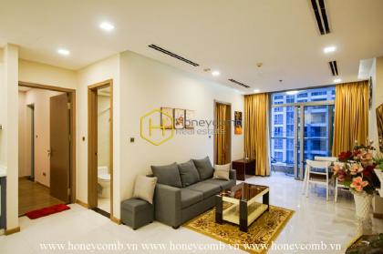 Phong cách đơn giản với căn hộ 2 phòng ngủ cho thuê tại Vinhomes Central Park