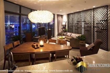 High floor apartment for rent in City Garden 2 bedrooms, luxury furniture