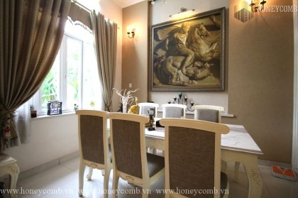 Substantial and adorable 4 bedrooms apartment in Villa Thao Dien for rent