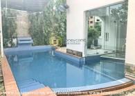 Biệt thự sáng sủa, có hồ bơi & chưa bao gồm nội thất ở Thảo Điền