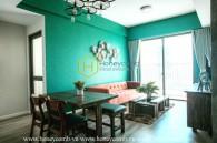 Căn hộ với tông màu xanh lá cây xinh xắn ở Masteri An Phú cho thuê