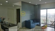 Two beds apartment design modern for rent in Masteri Thao Dien