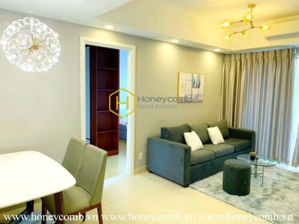 Low floor 2 beds apartment full furnished in Masteri for rent