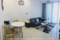 This modern apartment in Vinhomes Golden River stands for high class lifestyle