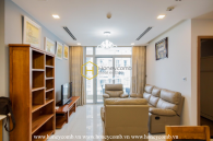 Splendid apartment with elegant wooden interior for rent in Vinhomes Central Park